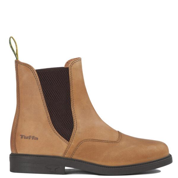 studio shot of a brown exmoor boot