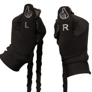 black thumbs on top riding gloves